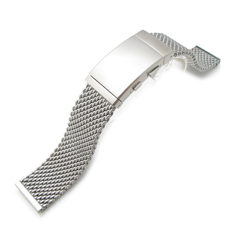 22mm Milanese Thick Mesh Wetsuit Ratchet Buckle