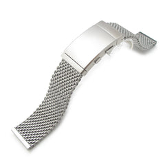 20mm Milanese Thick Mesh Wetsuit Ratchet Buckle