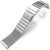 316L Mesh Watch Band on Diver Clasp