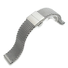 22mm Milanese Thick Mesh Band, Deployant Clasp