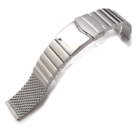 Wire Mesh Watch Band on Diver Clasp