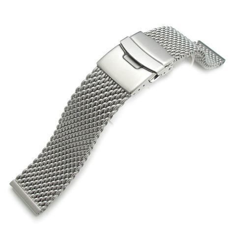 22mm Milanese Thick Mesh Band, Diver Clasp