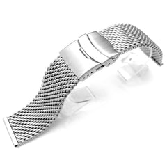 20mm Milanese Mesh Watch Band, Diver Clasp