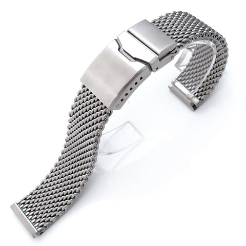 24mm Milanese Thick Mesh Band, Chamfer Diver Clasp