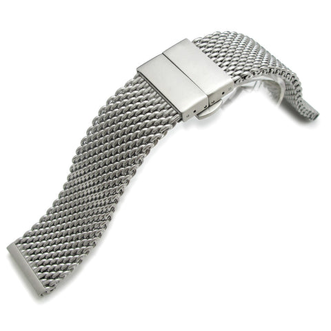 22mm Milanese Thick Mesh Band, Deployant Clasp XS