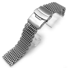 20mm Retro  Flatten Shark Mesh Band