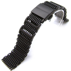 20mm SHARK Mesh Deployant PVD Black