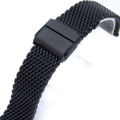 Mesh Band PVD Black on Interlock Clasp