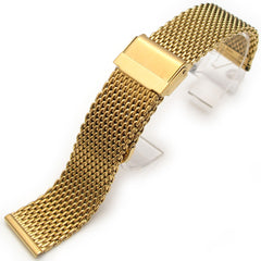 Mesh Band Gold on Vintage Double Interlock