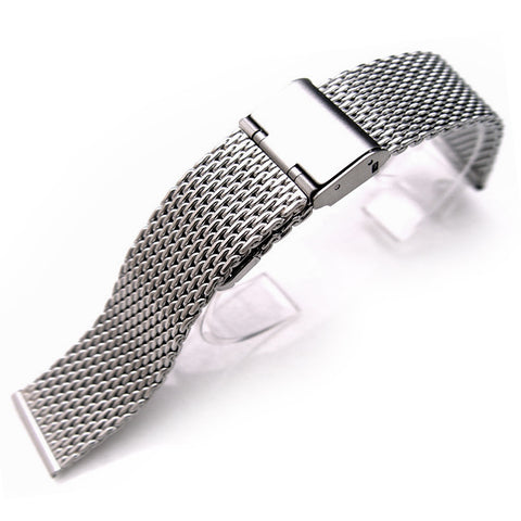 Mesh Watch Band on Vintage Interlock Clasp