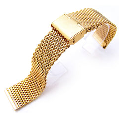Mesh Band Gold on Vintage Interlock Clasp