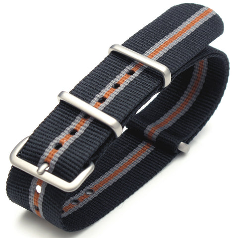 NATO James Bond Black, Grey & Orange