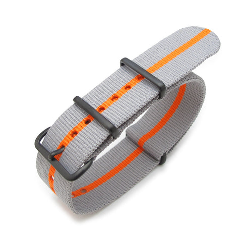22mm NATO James Bond Grey and Orange Strap