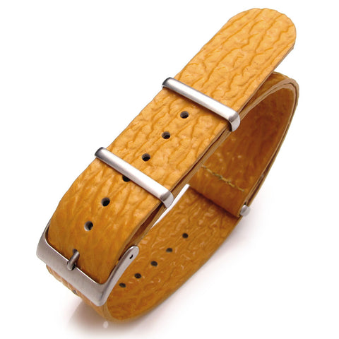 20mm G10 NATO Genuine Leather Military Strap