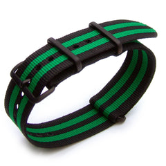 NATO James Bond Double Black & Green Strap