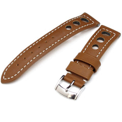 Sport-Racer Punch Holes Leather Watch Strap