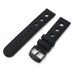 Black Punch Holes Silicone, PVD Black Buckle