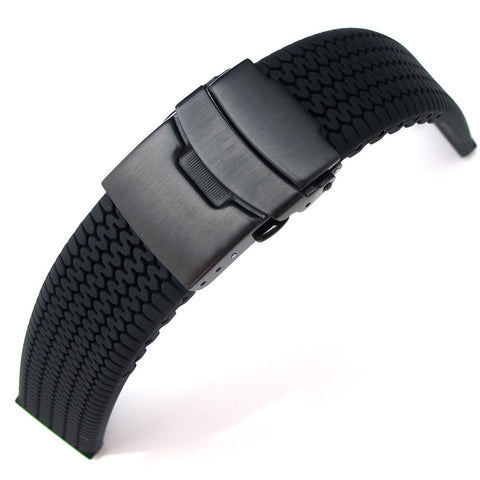 Tire Tread Silicone on PVD Black Clasp