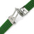 Matte Green Grooves Silicone Diver Strap