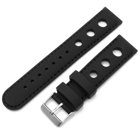 Silicone Dive Watch with Brushed Buckle
