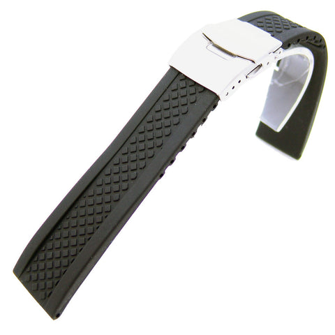 Silicone Diamond Tread Dive Watch Strap