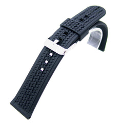 Silicone Woven Pattern Strap for Sport Watch