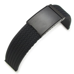 22mm Tire Tread Silicone, Black OME Clasp