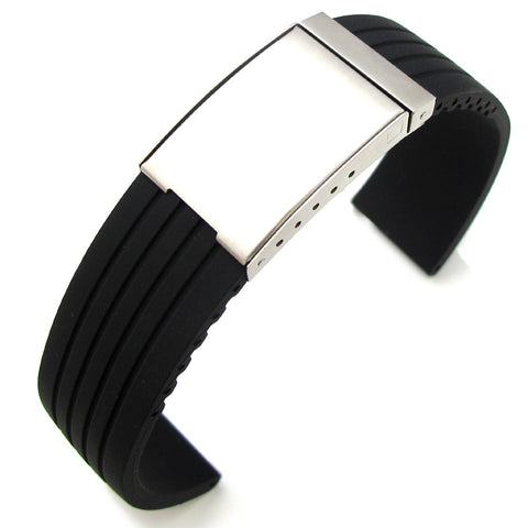 Soft Silicone Strap on Brushed OME Clasp