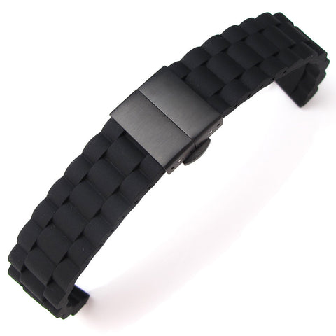 20mm Oyster Style Silicone Strap on Deployant
