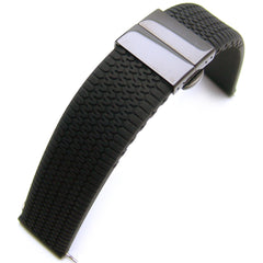 Tire Tread Silicone on PVD Black D-Buckle