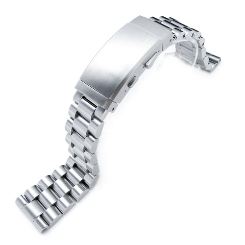 22mm Straight End Endmill Watch Bracelet, Wetsuit Ratchet Buckle