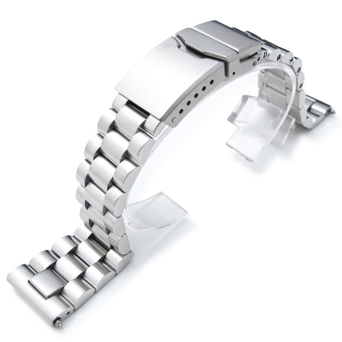 22mm Straight End Endmill Watch Bracelet, Chamfer Clasp