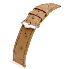 Genuine Ostrich Leather Watch Band