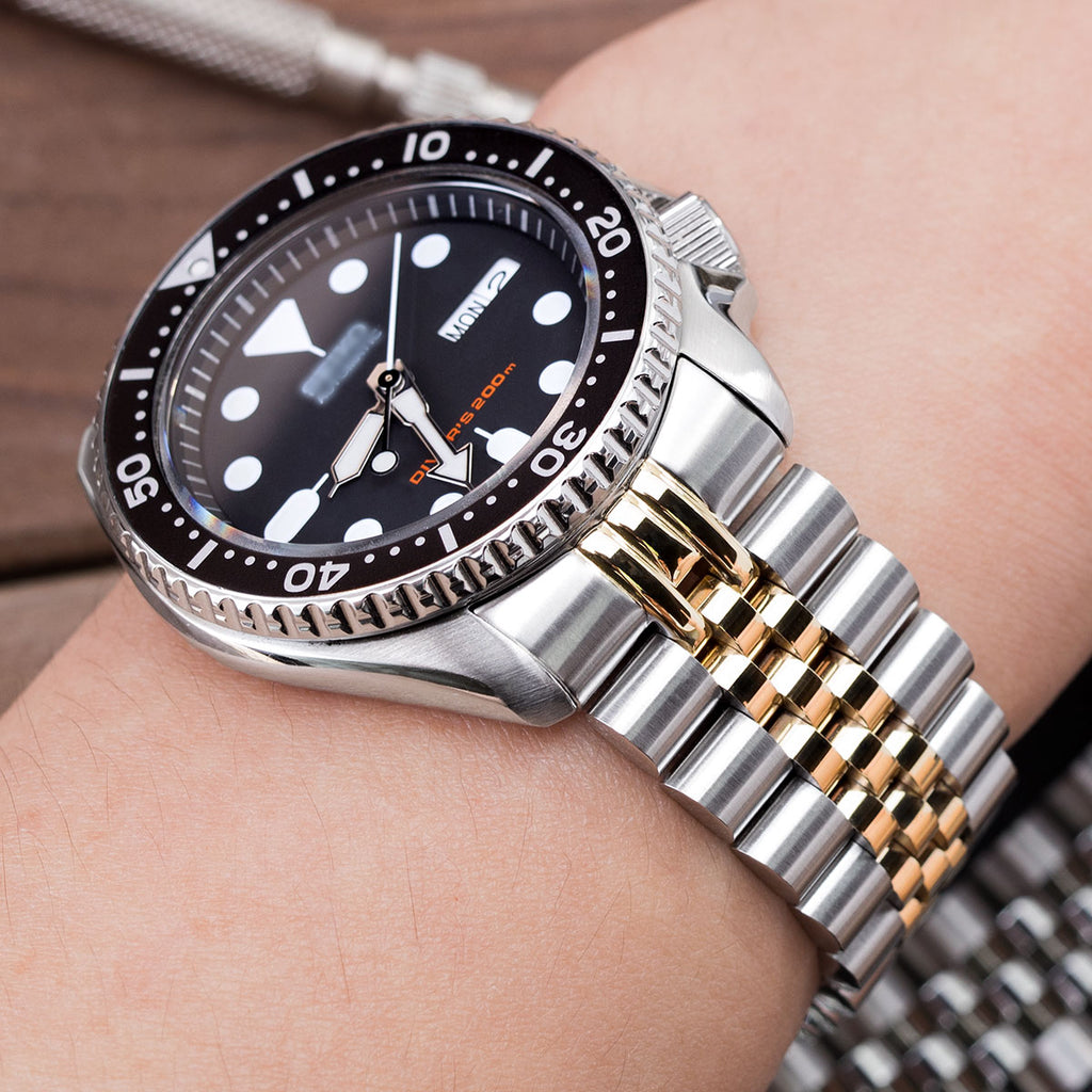22mm Super Jubilee For Seiko Skx007 Button Chamfer Two