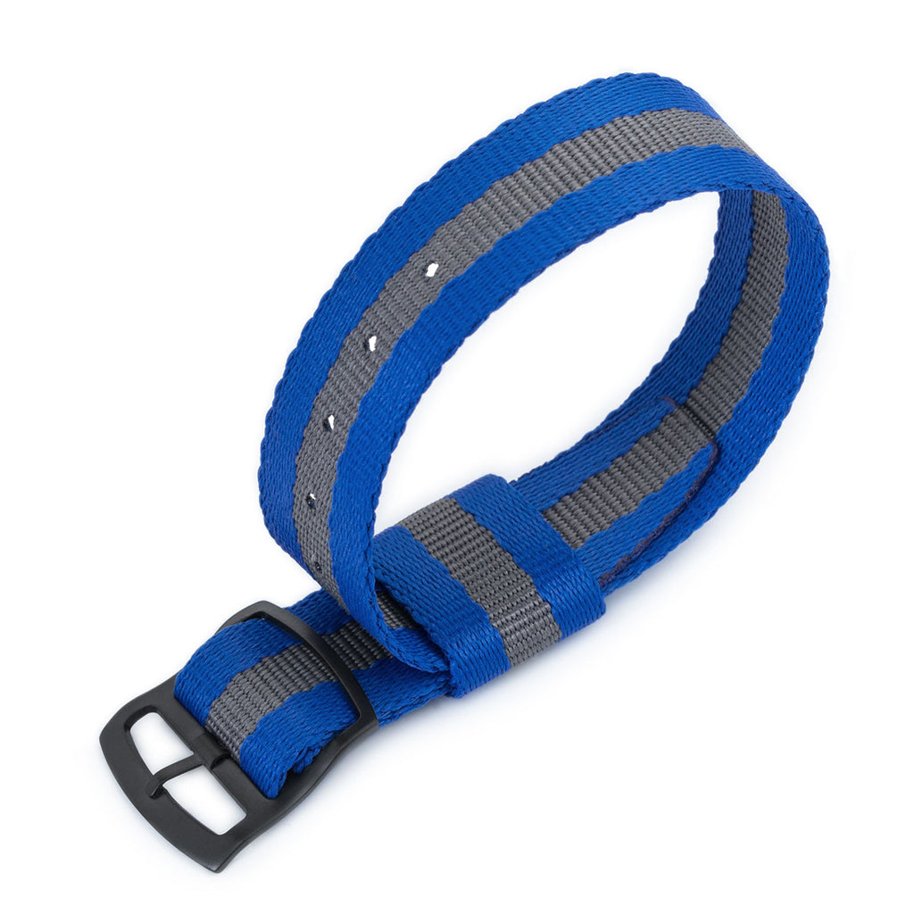 20 mm Slanted band Dark blue with dots