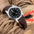 20mm One-piece Italian Brown Leather Diver Watch Strap | Strapcode