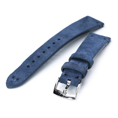 20mm Blue Quick Release Italian Suede Leather Watch Strap | Strapcode