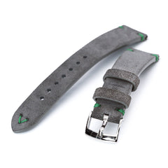 20mm Grey Quick Release Italian Suede Leather Watch Strap | Strapcode