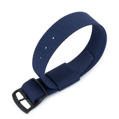 21mm RAF N7 Nato, Navy Blue, PVD Black