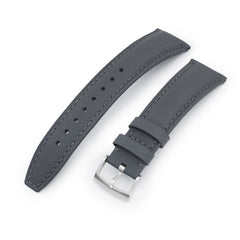 20mm or 22mm Military Grey Finish  Watch Strap, Grey Stitching, Brushed