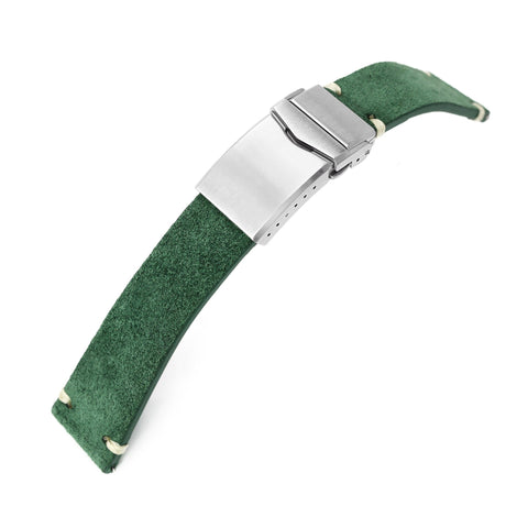 MiLTAT Green Suede Quick Release One-piece , V-Clasp