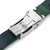 20mm or 22mm MiLTAT Green Genuine Leather One-piece Suede Quick Release Watch Strap V-Clasp Taikonaut Watch Bands