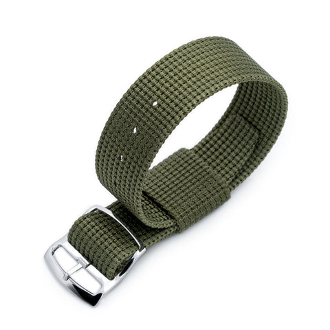 RAF N7 3-D Nylon Nato, Military Green, Polished
