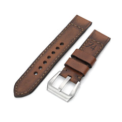 22mm Gunny X MT '74' Brown Handmade Quick Release Watchband