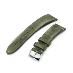22mm MiLTAT Italian Handmade Brushed Green, Khaki St.