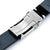 20mm or 22mm MiLTAT Black Genuine Leather One-piece Suede Quick Release Watch Strap V-Clasp Taikonaut Watch Bands