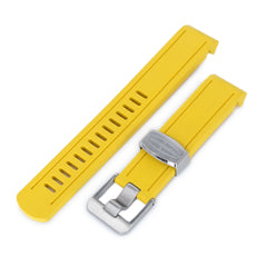 Yellow Curved End Rubber for Seiko Sumo SBDC001