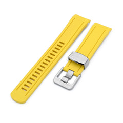 Yellow Curved End Rubber for Seiko SKX007