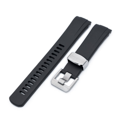 Black Curved End Rubber for Seiko Turtle SRP777