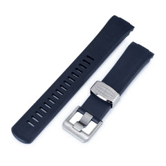 Blue Curved End Rubber for Seiko Turtle SRP777